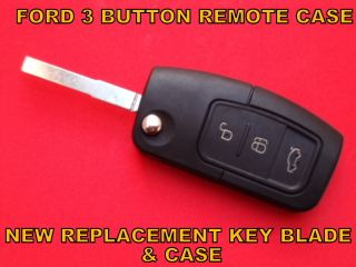 FORD 3 BUTTON CAR VAN FLIP REMOTE CONTROL ALARM KEY FOB NEW CASE