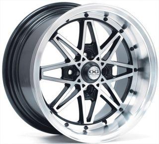 OG Axis Oldskool 15x8 ET25 4x100 Real JDM Full Machine Wheel Rim New