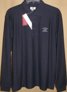 CUTTER and BUCK tour long sleeve atwell Polo Lg(Navy Heather)