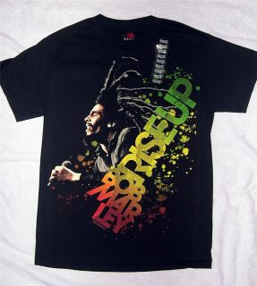 Bob Marley Rise Up Black T Shirt Small and Medium Zion Rootswear