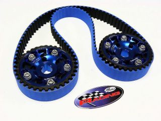 Prelude SI DOHC Gates Racing Timing Belt 2 Cam Gears Pair Blue