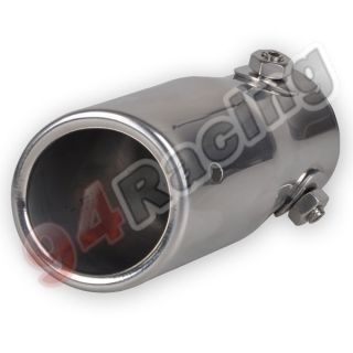 Universal Auto Metal Exhaust Extension Tail Gas Pipe exhaust tip