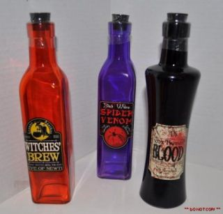 HALLOWEEN PARTY DECORATIONS PROPS WITCHS CORK BOTTLES POTION