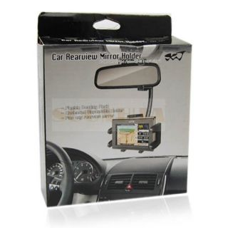 Universal Car Rearview Mirror Mount Holder For iPhone 5 5G HD08