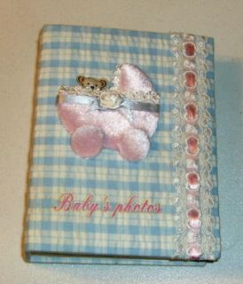 Baby Carriage Photo Album Fabric Covered Sweet