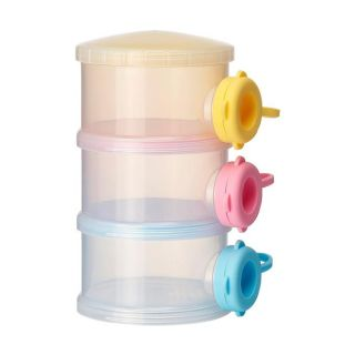 Color Tiers Baby Feeding Milk Powder Dispenser Travel Container