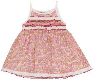 Girls Adorable Ruffle Flower Dress   Coccobirillo Baby Graziella 6M