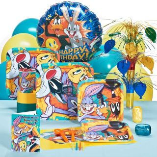 LOONEY TUNES BUGS BUNNY BIRTHDAY PARTY PACK FOR 16 PARTYWARE PARTY