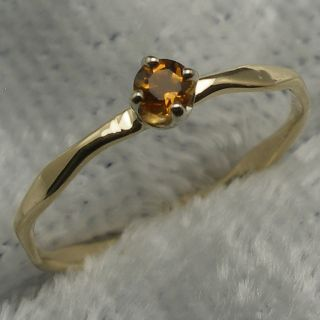 Topaz Citrine Baby Ring Hand Crafted 14k Gold November