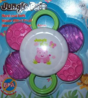Pals Hard Soft Water Teether Lion Zebra Hippo Baby Shower Cake