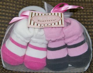 Baby Starters New Born Set of Socks 2 Piece