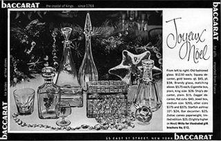 Baccarat Crystal Decanters Starfish Ashtray Jewel Box Glasses 1959