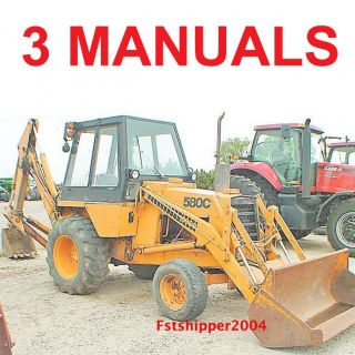 Case 580 C Loader Backhoe Service Operator Parts Manual Construction