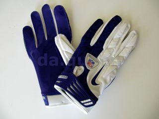 Mens Nike Superbad SG NFL Football Receiver Gloves White Gray Black