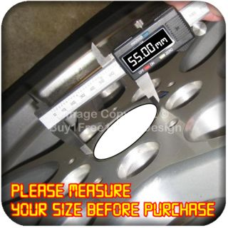 5cm Aluminium Center Centre Wheel Alloy Hub Cap Sticker Badge E