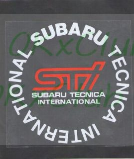 Japan STI Motors Racing Sport Car Fuel Tank Cap Sticker