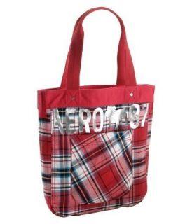 Bulldog Red Plaid Logo Tote Bag Handbag Purse Womens Bags
