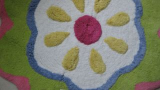 Jumping Beans Flower Power Bath Rug Flower Shaped Bath Mat Rug NEW