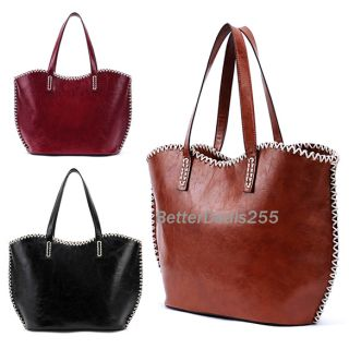 Western Pattern Plaited Side PU Leather Tote Bag Shoulder Bag Womens