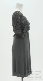 Bailey 44 Grey Crochet Jersey Dress Size XS New