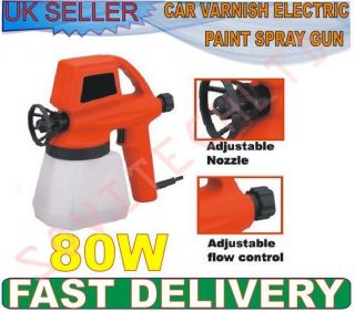 80W FENCE CAR VARNISH ELECTRIC PAINT SPRAY GUN SPRAYER MULTI PURPOSE