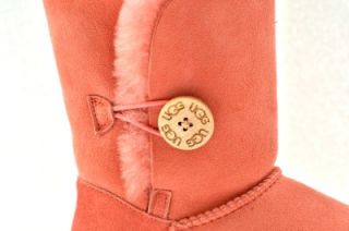 UGG Women Bailey Button Calf Height Boots Shoes Seashell Rose Pink Sz
