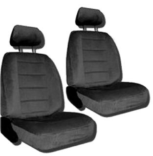 Charcoal Grey Car Auto Truck Seat Covers w Head rest Covers 1