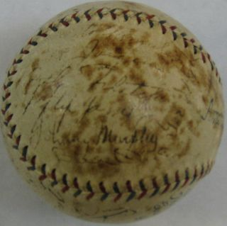 Babe Ruth Lou Gehrig Autographed 1934 New York Yankees Signed Baseball