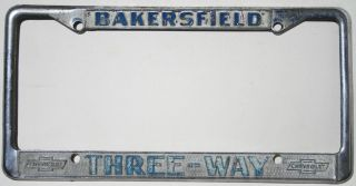 License Plate Frame Three Way Chevrolet Bakersfield Corvette Camaro