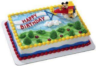 Bakery Supplies Airplane Pluto Cake Topper Mickey Mouse