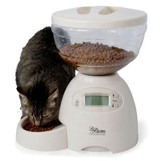 Portion Control Automatic Pet Dog Cat Feeder Linen Holds 5 Lbs