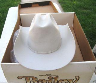 VINTAGE BAILEY COWBOY WESTERN HAT 2X PLATINUM ROPER LONGHORN SIZE 7 1