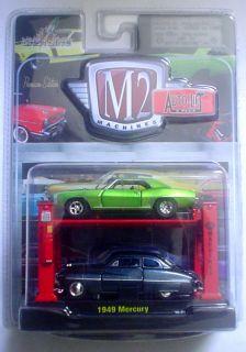 M2 Auto Lift 1969 69 Chevy Camaro 1949 49 Mercury 1 64 Scale Diecast