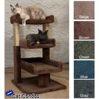 Triple Kitty Cat Perch Bed Climbing Tree Condo 110029 5 Colors