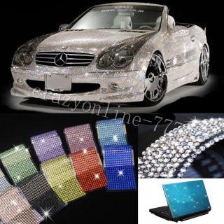 504pcs Auto Car Bling Crystals Diamonds Interior Exterior Silvery 1