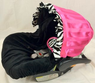 Ritzy Baby Zebra Infant Car Seat Cover Ships Today