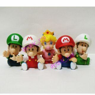 Bros Action Figure Baby Mario Fire Mario Luigi Fire Luigi Peach
