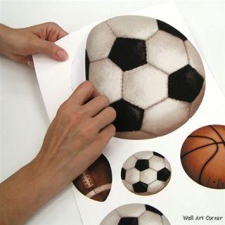 Play Ball All Star Sports Boys Vinyl Wall Sticker Decal