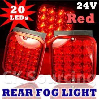 24V LED Side Marker Fog Rear Brake Lamp Light Trailer Truck Lorry Car