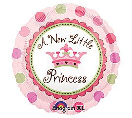 Its A Girl New Little Princess 18 Balloons Baby Shower New Baby w