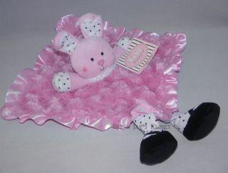 NWT Baby Starters Faux Fur SWIRLS Bunny RABBIT Snuggle Buddy Blanket