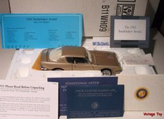 1963 Studebaker Avanti Franklin Mint 1 24 Diecast Cars of The 60s in