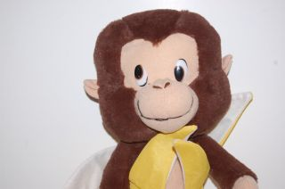14 Plush Monkey Banana Classic Peeling Fruit Stuffed Animal Lovey Toy