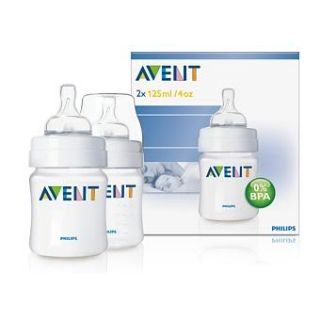 Avent 4oz / 125ml Feeding Baby Bottle (Twin pack)