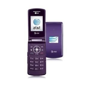 LG CU515 PTT Camera Flip Purple Phone FOR AT&T