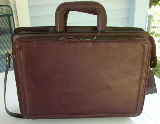 Avenues in Leather Cordovan Brown Leather Briefcase Laptop Case
