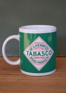Mug Coffee Tabasco Green White Red Houston Harvest Cup