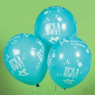 Pastel Blue Its A Boy Balloons Baby Shower Party Decorations New