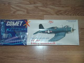 Vought F4U 1 Corsair Flying Balsa Wood Scale Model Airplane Kit