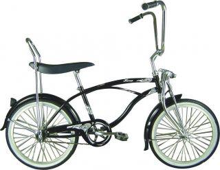 20 Lowrider Beach Cruiser Bicycle Bike Banana Seat Hero Black